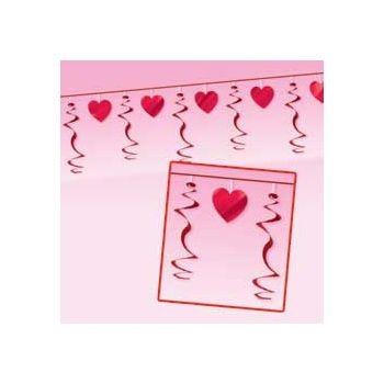VALENTINE HEARTS   12' SWIRL GARLAND