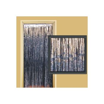 Silver Metallic   Fringed Door Curtain