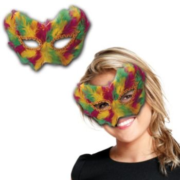 MARDI GRAS   FEATHERED MASK