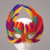 Rainbow Feathered Masks