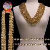 "Gold Star Bead 33"" Necklaces - 12 Pack"