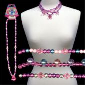 Princess Jewel Necklaces Neon Bug Rings - 12 Pack
