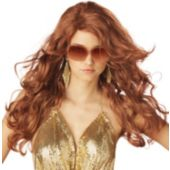 Sexy Super Model Auburn Adult Wig
