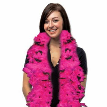 Pink and Black Feather Boa - 6 Foot