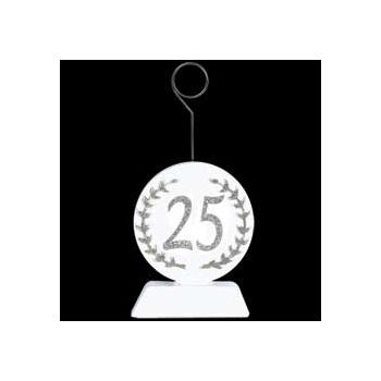Silver Number 25 Balloon Weight