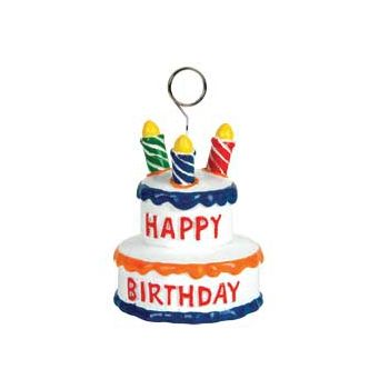 Birthday Cake Balloon Weight - 3 Inch