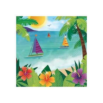 Ocean View   Beverage Napkins 100 per pack