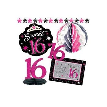 SWEET 16 SPARKLE   DECORATION KIT
