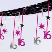 SWEET 16 SPARKLE CEILING DECORATION