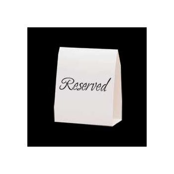 RESERVED TABLE TENT