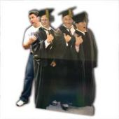 3 Stooges Graduation Cardboard Stand Up Cut Out