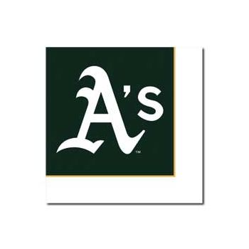 OAKLAND ATHLETICS   LUNCHEON NAPKINS