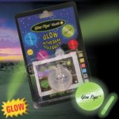 Green Glow Flyer Golfball  W/ 1 Mini Lightstick  (Retail Blister Card)