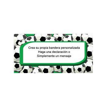 Bandera De Vinilo Diseño Fútbol