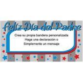 Bandera De Vinilo Diseño Feliz Día Del Padre