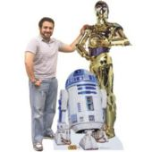 R2 D2 And C3Po Cardboard Stand Up Cut Out