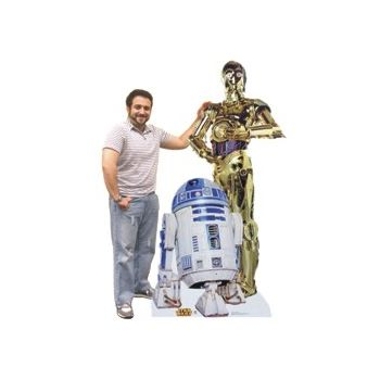 R2 D2 & C3PO   LIFE SIZE STAND UP