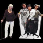 3 Stooges Golf Cardboard Stand Up
