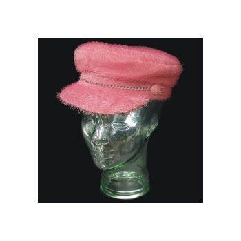 Pink Furry Biker Hat