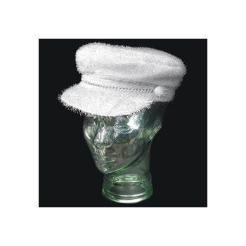 White Furry Biker Hat