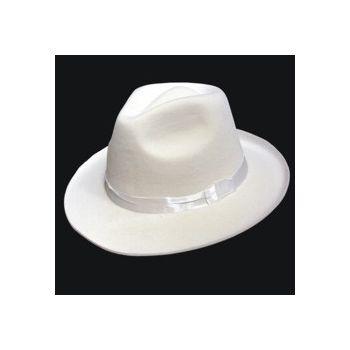 White Felt Fedoras - 12 Pack