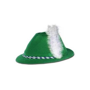 TYROLEAN   GREEN VELOUR HAT