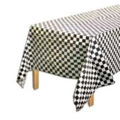Checkered Plastic Table Cover