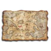 "Pirate 12"" x 18"" Treasure Map"