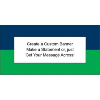Navy Blue and Green Customizable Banner