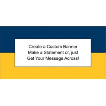Navy Blue and Gold Yellowish Custom Banner