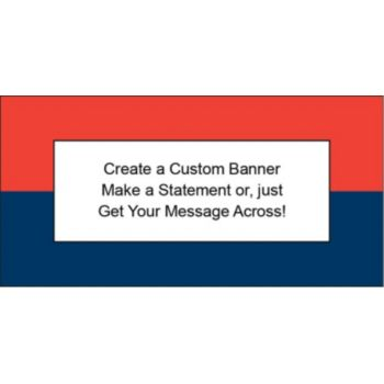 Red and Navy Blue Custom Banner