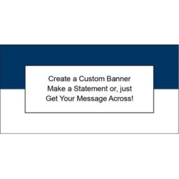 Navy Blue and White Custom Banner