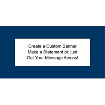 Navy Blue Custom Banner