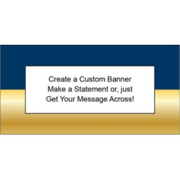 Navy Blue and Gold Traditional Custom Banner