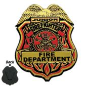 "Junior Firefighter 3"" x 2"" Badges - 12 Pack"