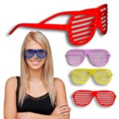 Colorful Slotted Glasses - 12 Pack