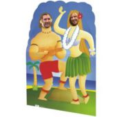 Luau Cardboard Stand Up Cut Out