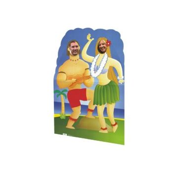 LUAU CARDBOARD   STAND UP CUTOUT