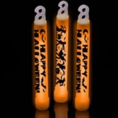 Orange Halloween Glow Sticks - 6 Inch, 25 Pack