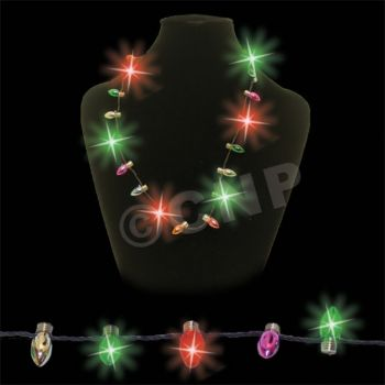 """Red & Green Holiday  33"""" L.E.D. Necklace"""