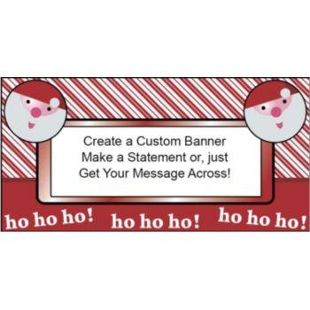 Ho Ho Holiday Custom Banner