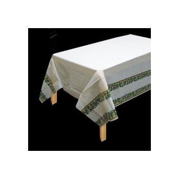 HOLIDAY TREASURES   PLASTIC TABLE COVER