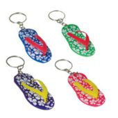 Hibiscus Sandal Keychain