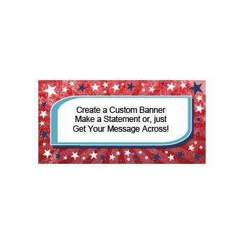 Patriotic American Stars Custom Banner