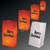 Merry Christmas Luminary Bags - 50 Pack