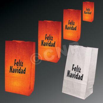 Feliz Navidad Luminary Bags - 50 Pack