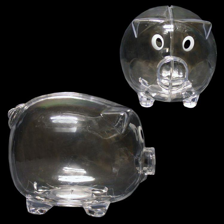 Clear Piggy Bank Piggy Bank Loading Zoom