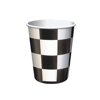 Black & White Check   9 oz. Cups