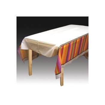 FIESTA STRIPES   PLASTIC TABLE COVER