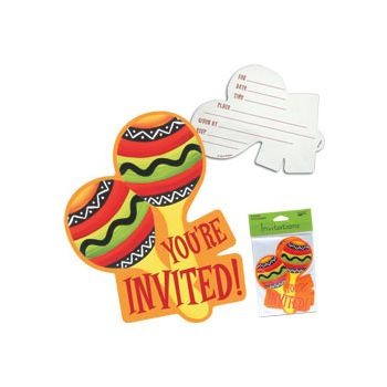 FIESTA STRIPES   INVITATIONS